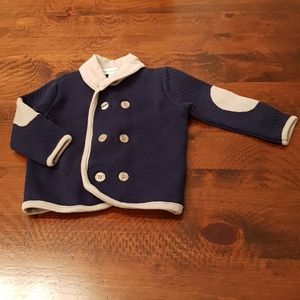 Elbow patch cardigan 12 months